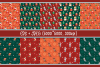 Woof. Christmas seamless patterns with cute doggies example image 2