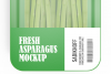 Plastic Tray With Asparagus Mockup example image 9