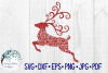 Reindeer Mandala, Christmas SVG Cut File example image 2