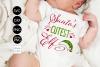 Santas Cutest Elf CHRISTMAS SVG File, DXF file, PNG file example image 1
