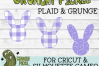 Plaid & Grunge Spring Easter Bunny 2 SVG Cut File example image 4