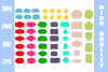 Tag Shapes SVG 55 pc example image 1