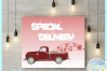Valentines Day Special Delivery Truck Svg Dxf Eps Png Pdf example image 2
