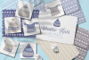 Winter Knitted Accessories Clipart & Scrapbooking Papers Set example image 3