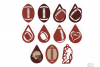 Football Earrings SVG in SVG, DXF, PNG, EPS, JPG example image 2
