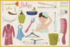 In The Bathroom Vector Clipart and Seamless Pattern example image 3