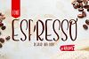 Espresso font example image 1