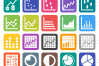 40 Infographics Filled Round Corner Icons example image 2