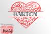 Heart Split Monogram SVG DXF EPS PNG example image 1