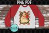 Santa with Leopard Print Fram example image 2