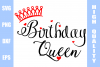 Birthday Queen Svg example image 1