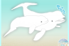Beluga White Whale Mom Baby Nautical SVG Eps Png PDF files example image 3