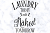 Laundry Today or Naked Tomorrow SVG Digital Cut File example image 3