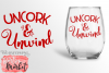 Uncork & Unwind SVG DXF EPS PNG example image 1