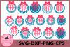 Frame Svg, Monogram Frames SVG, Monogram svg, Bow svg,Circle example image 1