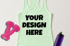 Ladies Tank Top Mockups - 20|Front/Back|PNG example image 13