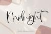 Midnight - Handwritten Script Font example image 1