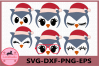 Owl Face SVG, Christmas svg, Owl Eyelashes Svg,Owl Christmas example image 1