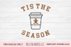 Tis The Season Gingerbread Latte- PNG Image Only example image 1