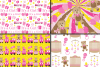 It`s a Girl Digital Paper Pack / Baby Girl Pink Digital Papers / Baby Shower backgrounds / Scrapbooking Printable Papers / Nursery Digital Paper example image 2