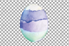 Watercolor Easter eggs colorful clip art pack example image 4