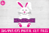 Split Bunny - SVG, DXF, EPS Cut File example image 1