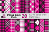 Pink and Black Plaid Digital Papers / backgrounds example image 1