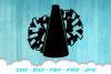 Cheerleader Cheer Megaphone Poms SVG DXF Cut Files example image 2