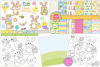 easter bundle, Easter bunny graphics and illustrations example image 2