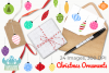 Christmas Ornaments Clipart, Instant Download Vector Art example image 4