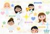 Angel Girls Clipart, Instant Download Vector Art example image 2