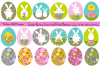 Easter Bunny Graphics & Floral Patterns example image 1