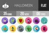 35 Halloween Flat Long Shadow Icons example image 1