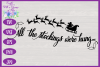 Christmas SVG - Stockings Were Hung Stocking Sign Design example image 3