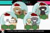 Christmas Kitty snow-globe 2 example image 1