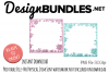Spring Glitter Borders example image 1
