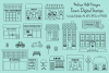 Town Buildings Digital Stamps Clipart example image 1