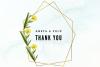 15 Vintage Wedding Geometric Frames, Wedding Floral Frames example image 5