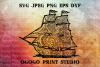 Ship SVG, Zentangle SVG, Mandala svg, Travel svg, Pirate svg example image 1