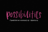 Possibilities - A Fun Handwritten Font example image 1