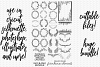 25 Hand Drawn Farmhouse Wreaths Swags Laurels Cutting Files example image 1