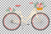 Floral bicycles clip art pack, blush floral and eucalyptus example image 3