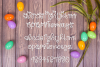 Snuggle Bunny Font Plus Easter Monogram Font and SVG example image 2