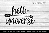 Hello Universe SVG Cut File example image 1