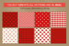 Valentine Seamless Patterns - Set 3 example image 4