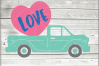 Valentine truck svg - truck SVG - Valentine truck WITH HEART example image 3