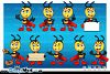 Super Little Bee - In 9 Poses example image 2