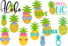 Huge Pineapple Bundle SVG, DXF, AI, EPS, PNG, JPEG example image 2