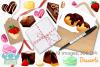 Dessert Watercolor Clipart, Instant Download Vector Art example image 4