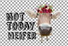 Not today Heifer printable floral burgundy decor, floral cow example image 16